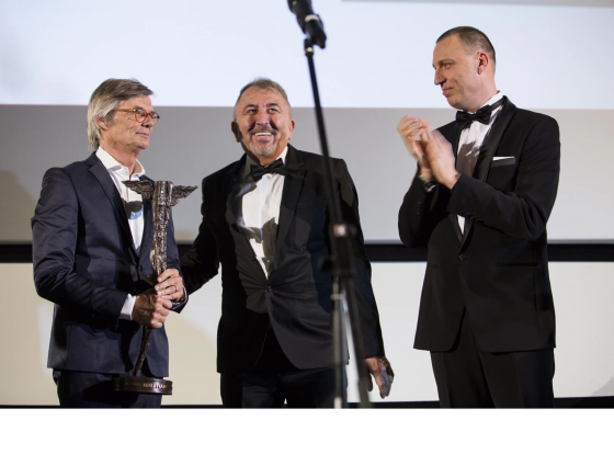 Bille August and Jiří Menzel receive Kristián award at Febiofest closing ceremony